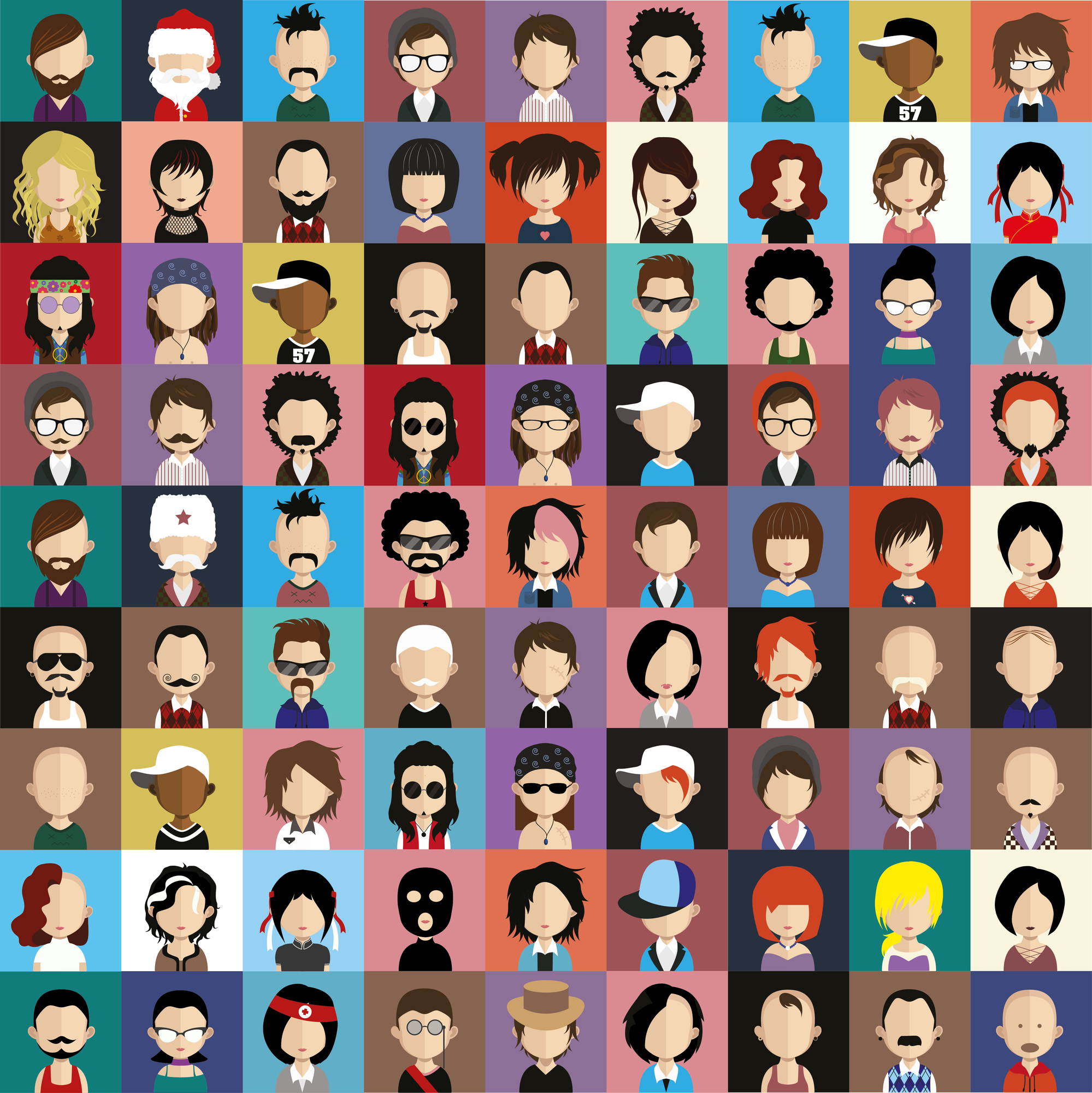 face icons and avatars